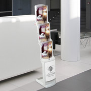 foldable brochure holder white real bianco, 3xA4
