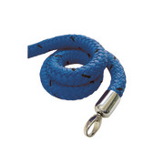 stopper tex rope blue, connector chrome-plated